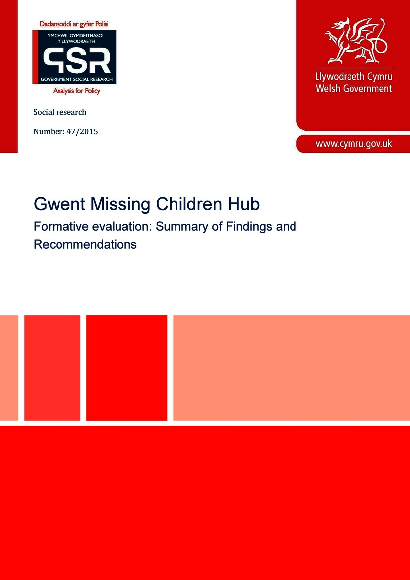 Evaluation of a multi-agency missing children hub