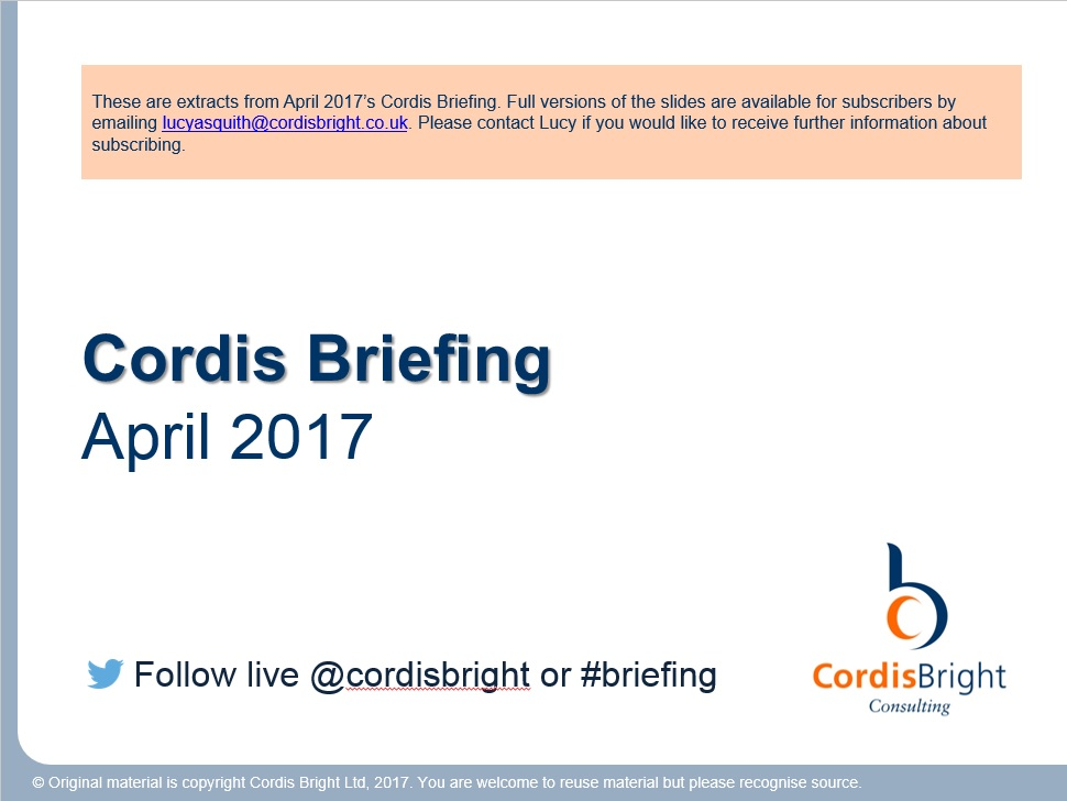 Cordis Briefing: April 2017