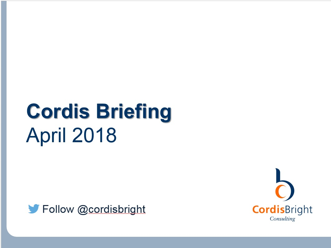 Cordis Briefing: April 2018
