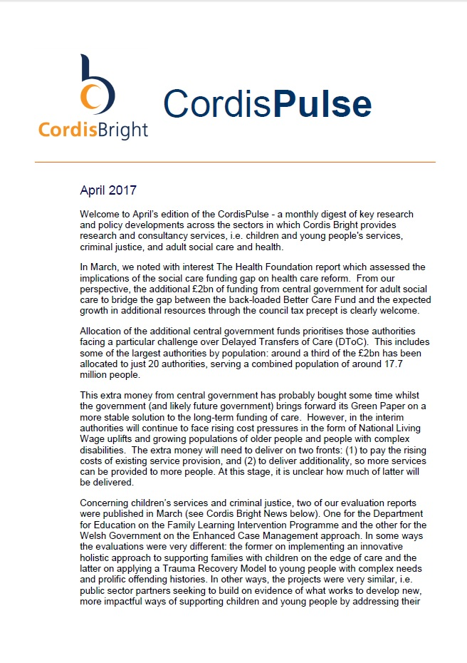 Cordis Pulse: April 2017