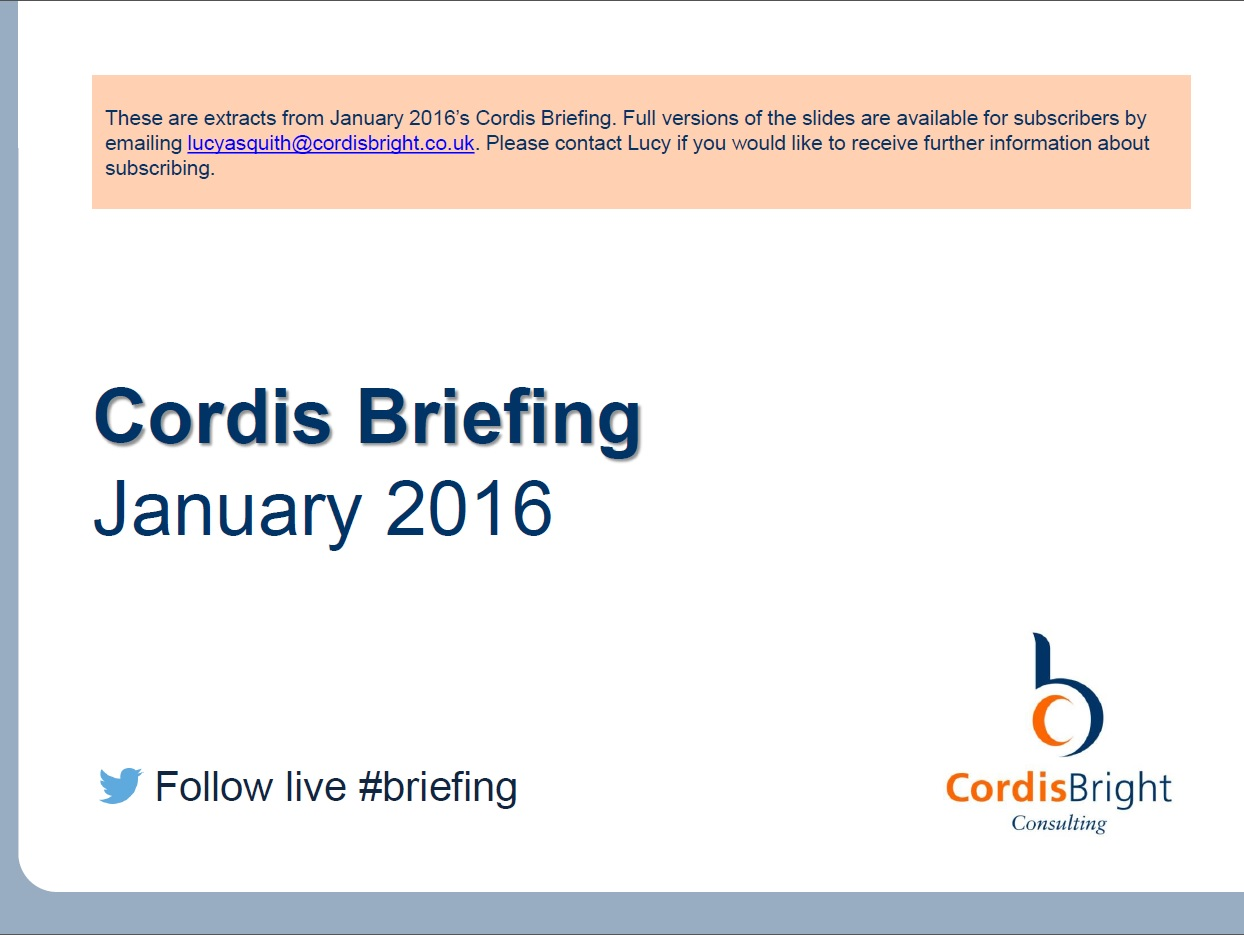 Cordis Briefing: January 2016
