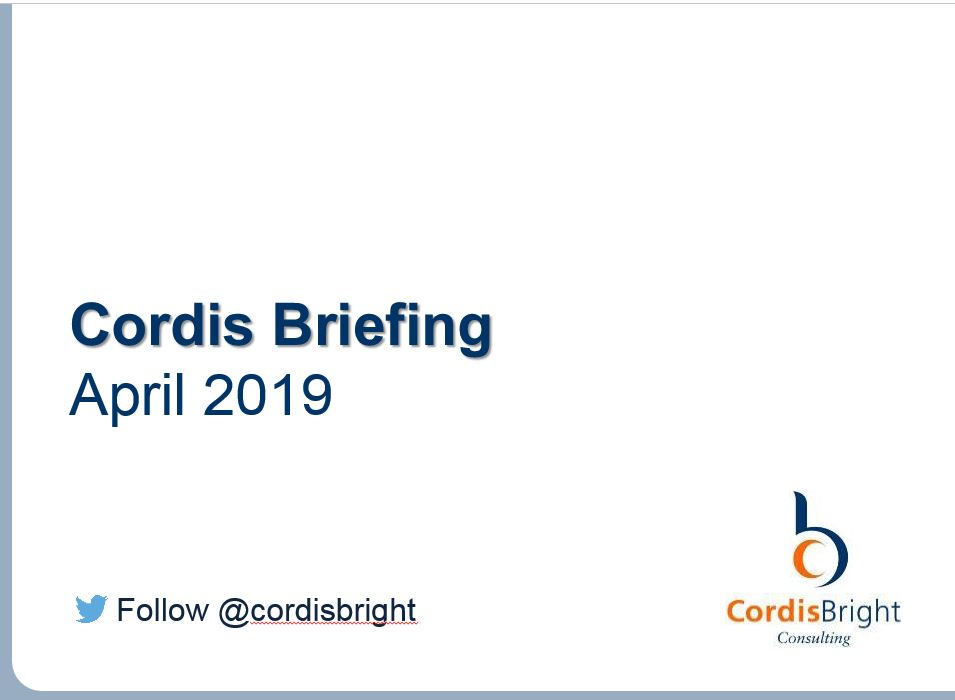 Cordis Briefing April 2019