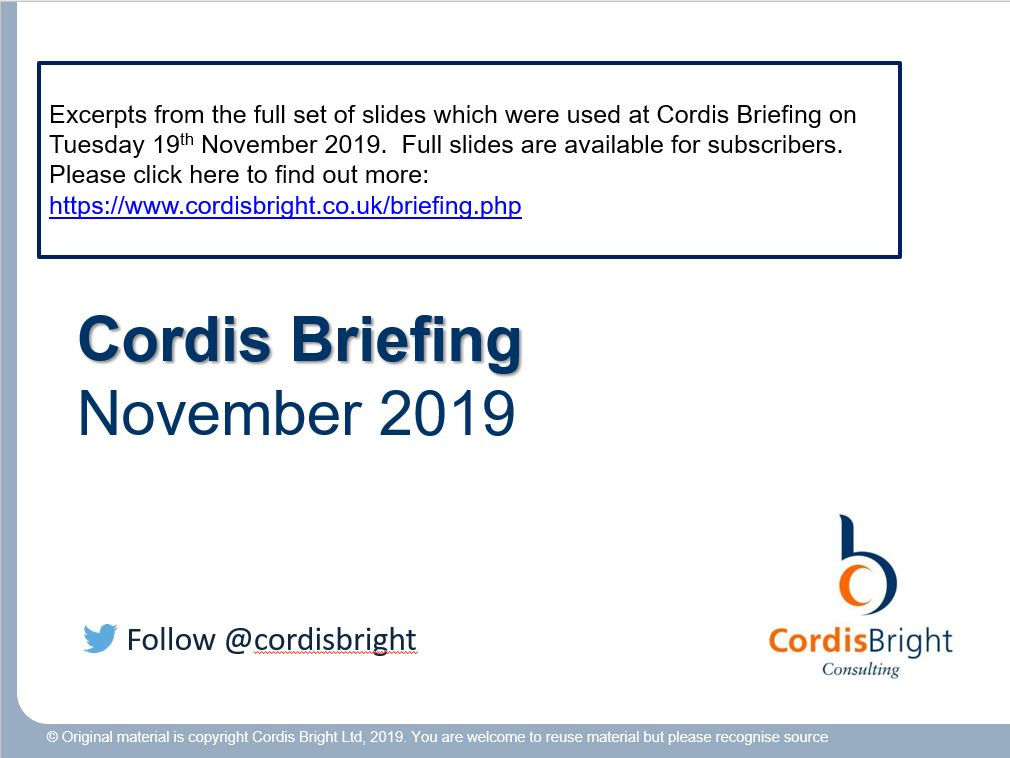 Cordis Briefing: November 2019
