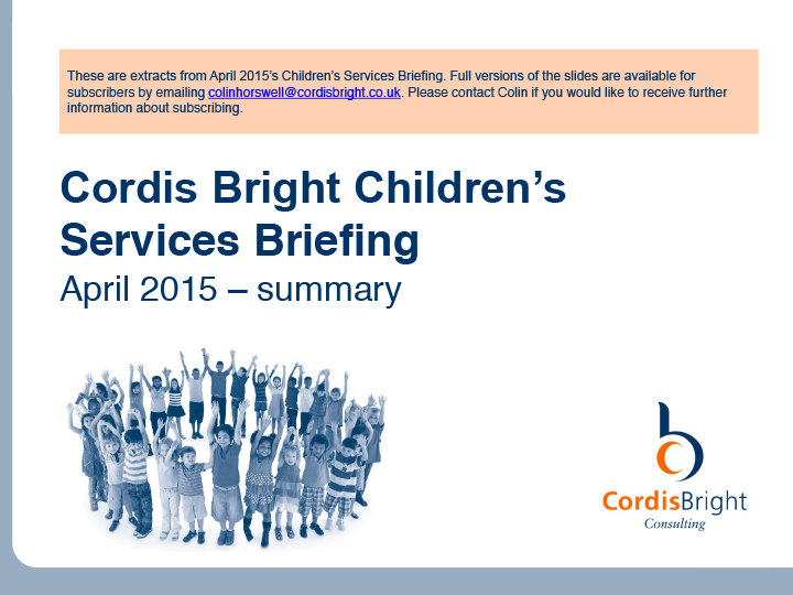 Children's Briefing: April 2015