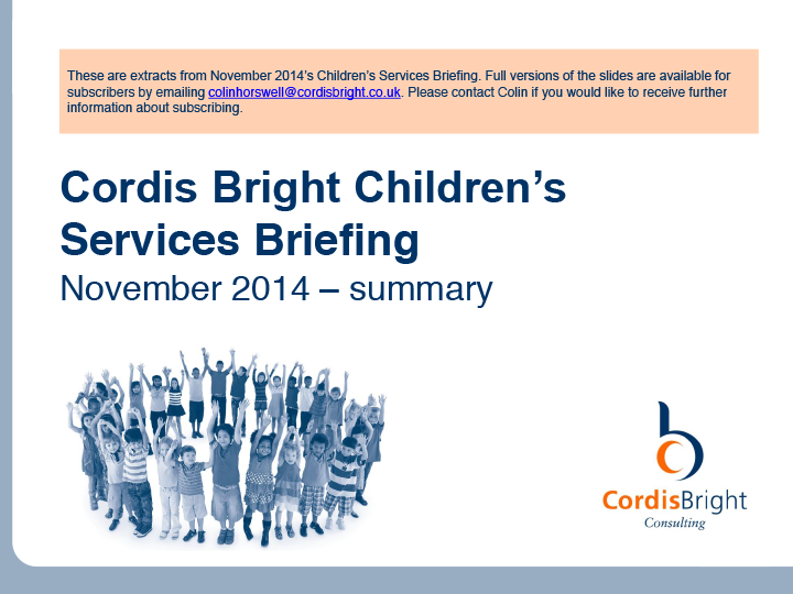 Children's Briefing: November 2014