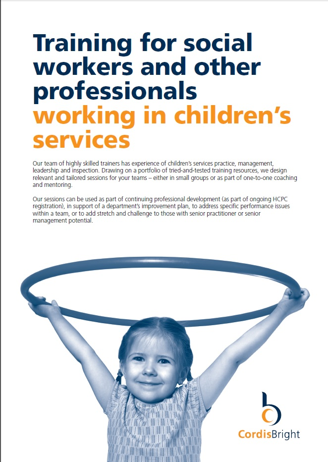 Training for children's services practitioners & managers