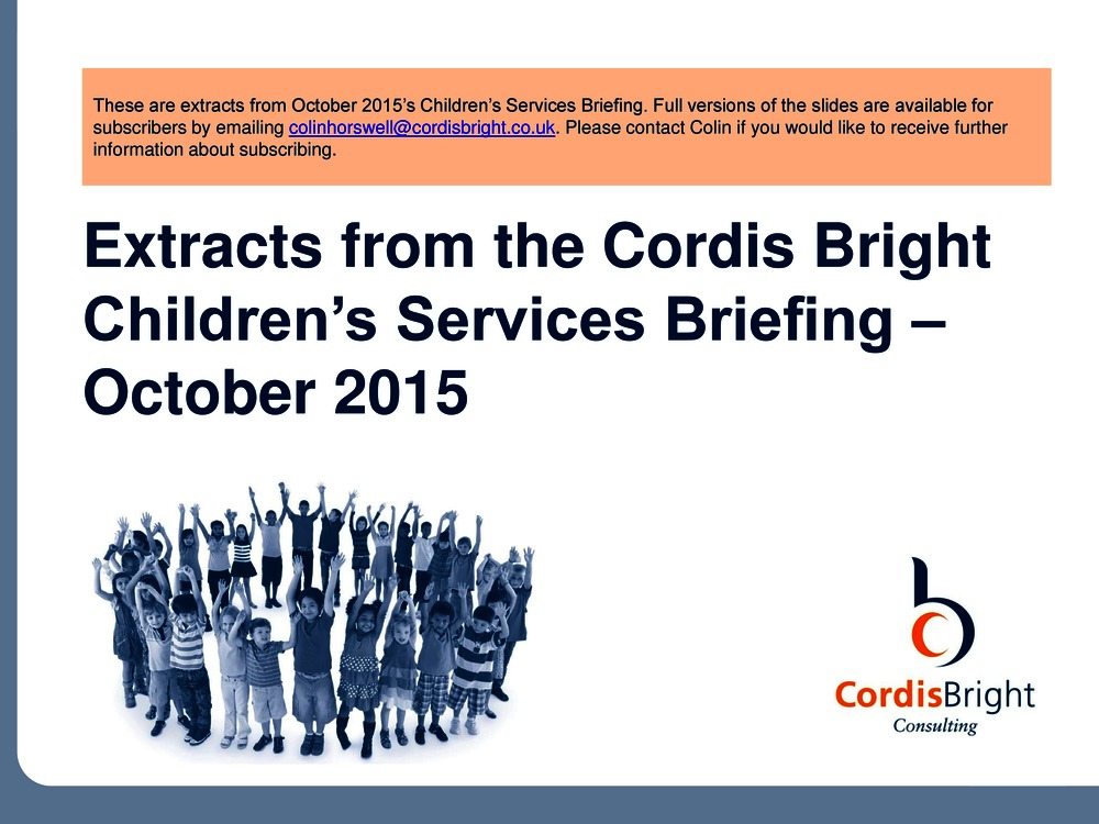 Children's Briefing: October 2015