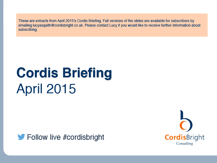 Cordis Briefing: April 2015