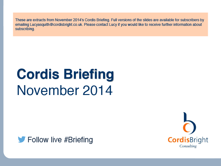 Cordis Briefing: November 2014