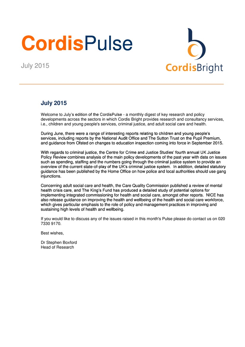 Cordis Pulse: July 2015