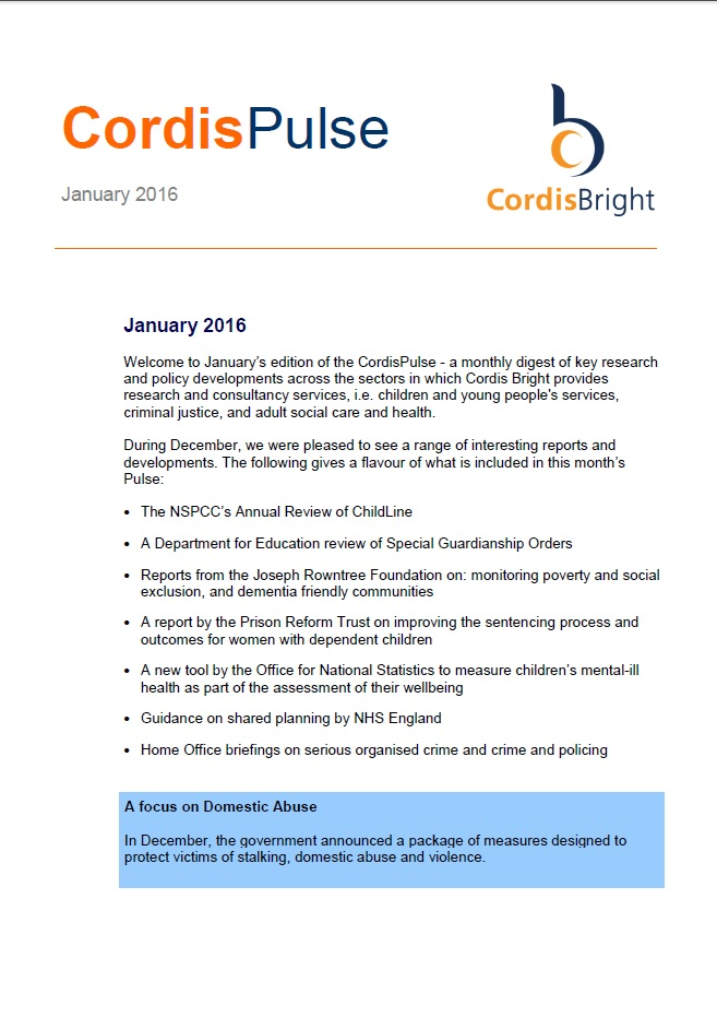 Cordis Pulse: January 2016