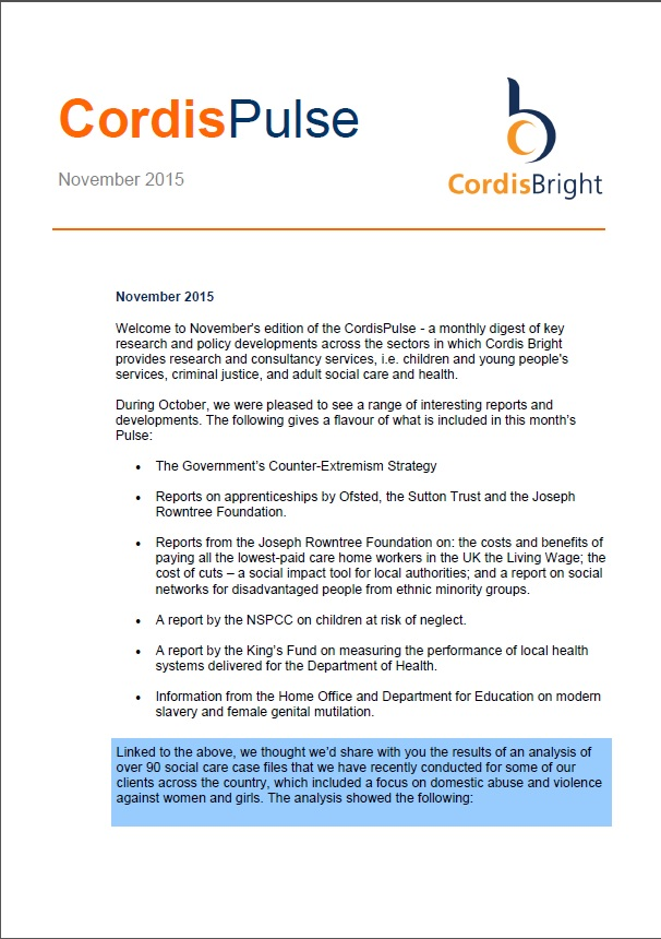 Cordis Pulse: November 2015