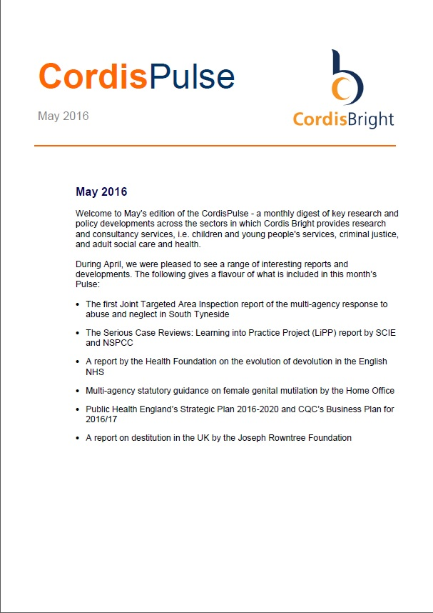 Cordis Pulse: May 2016