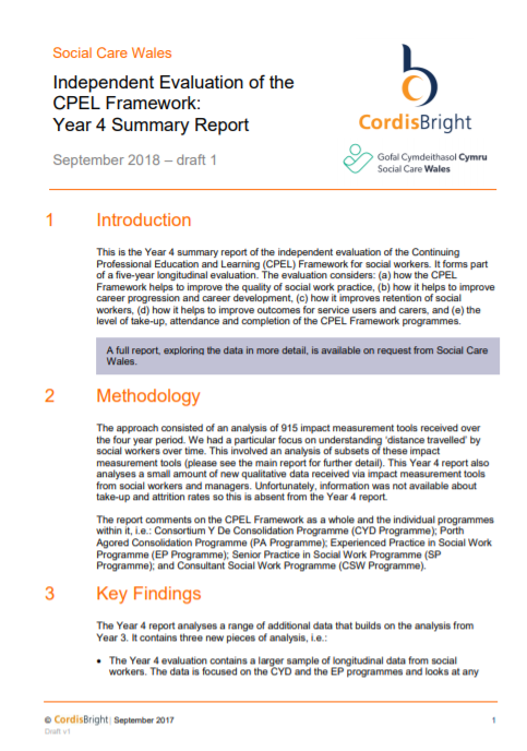 Evaluation of the CPEL Framework: Year 4 Report