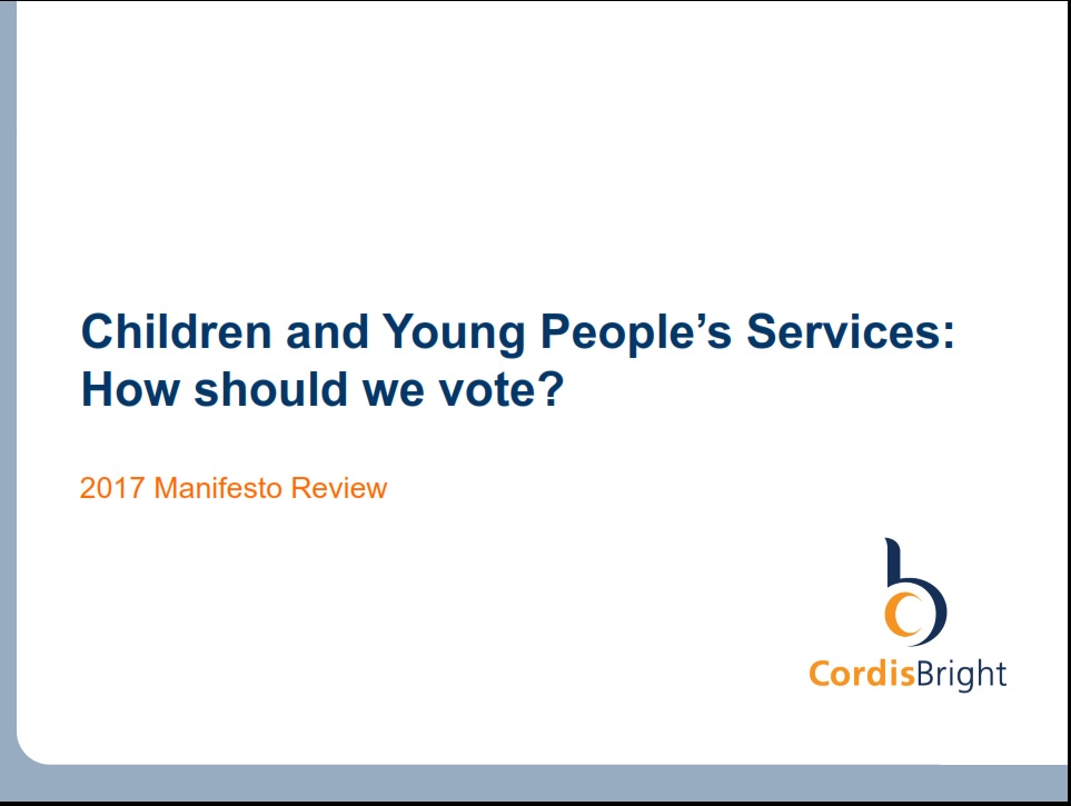 Manifesto Review 2017 - Children and young people's services