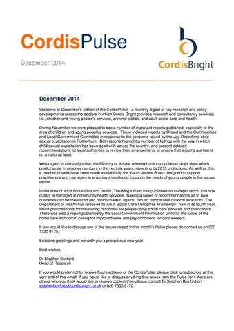 Cordis Bright: December 2014
