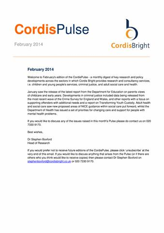 Cordis Pulse: February 2014