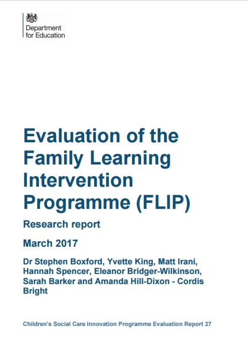 Evaluation of the Family Learning Intervention Programme