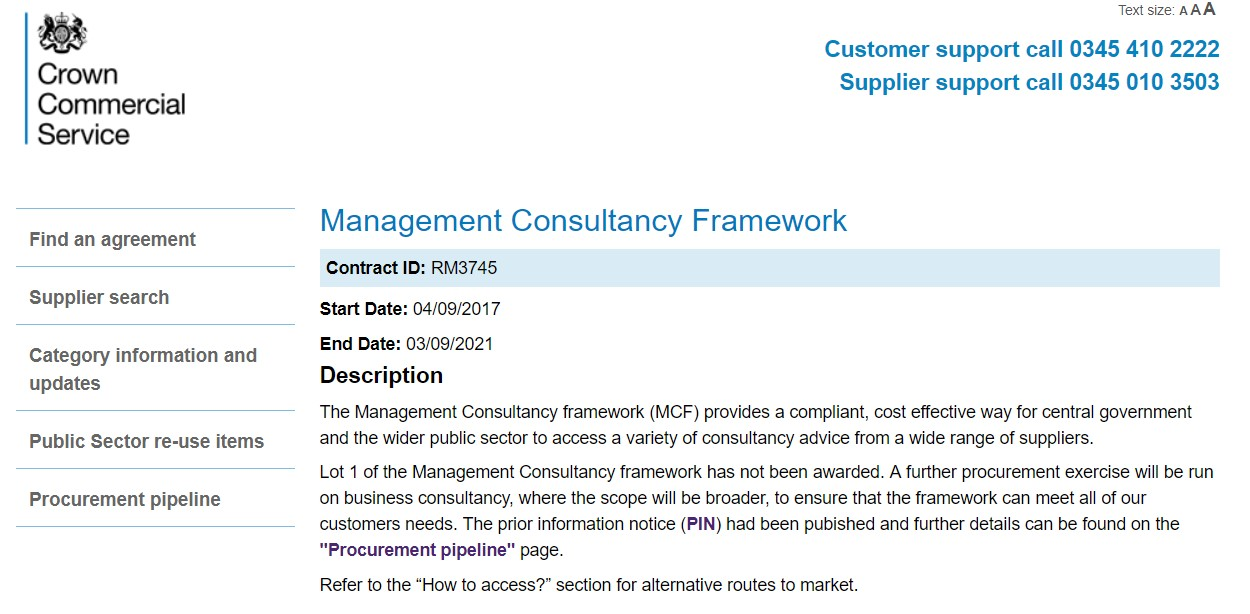Management consultancy framework