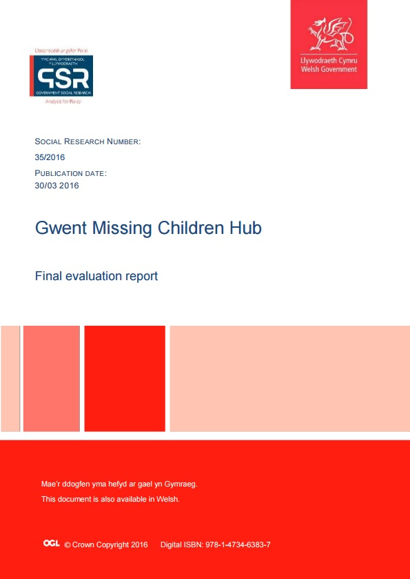 Final evaluation of a multi-agency missing children hub