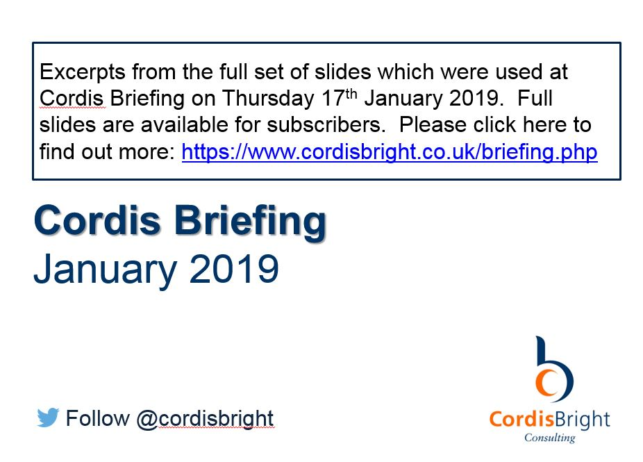 Cordis Briefing January 2019