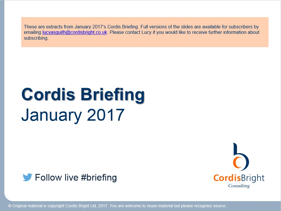 Cordis Briefing: January 2017