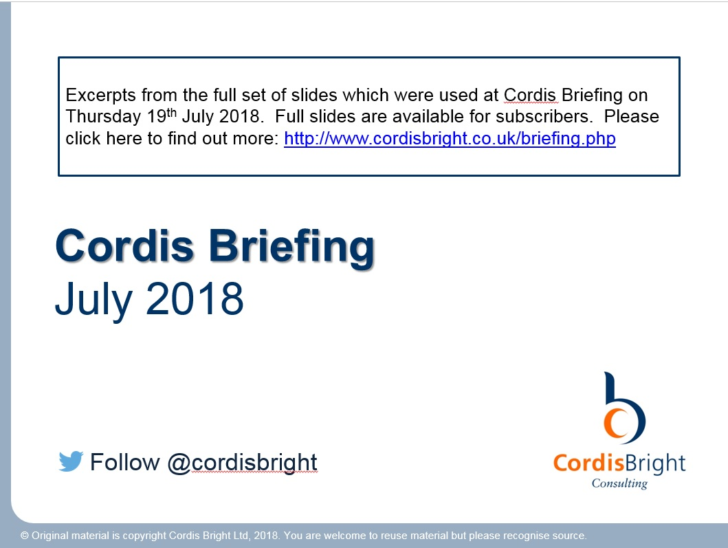 Cordis Briefing July 2018