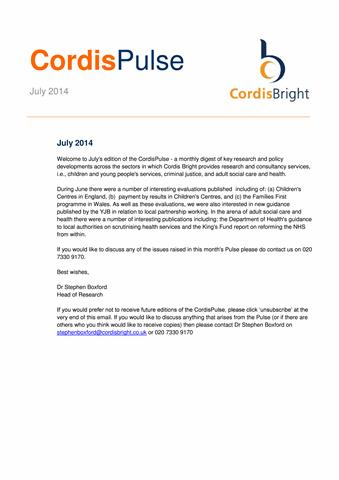 Cordis Pulse: July 2014