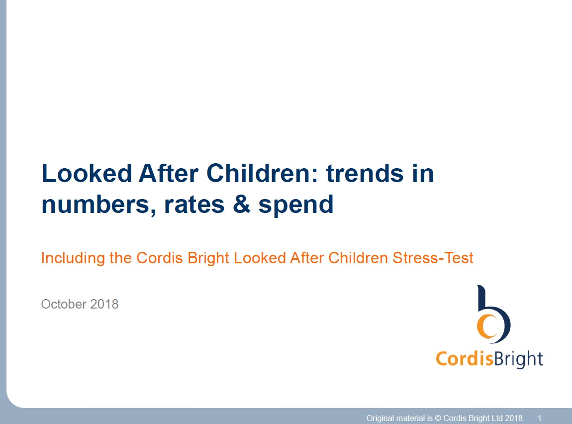 Looked After Children stress-test 2018