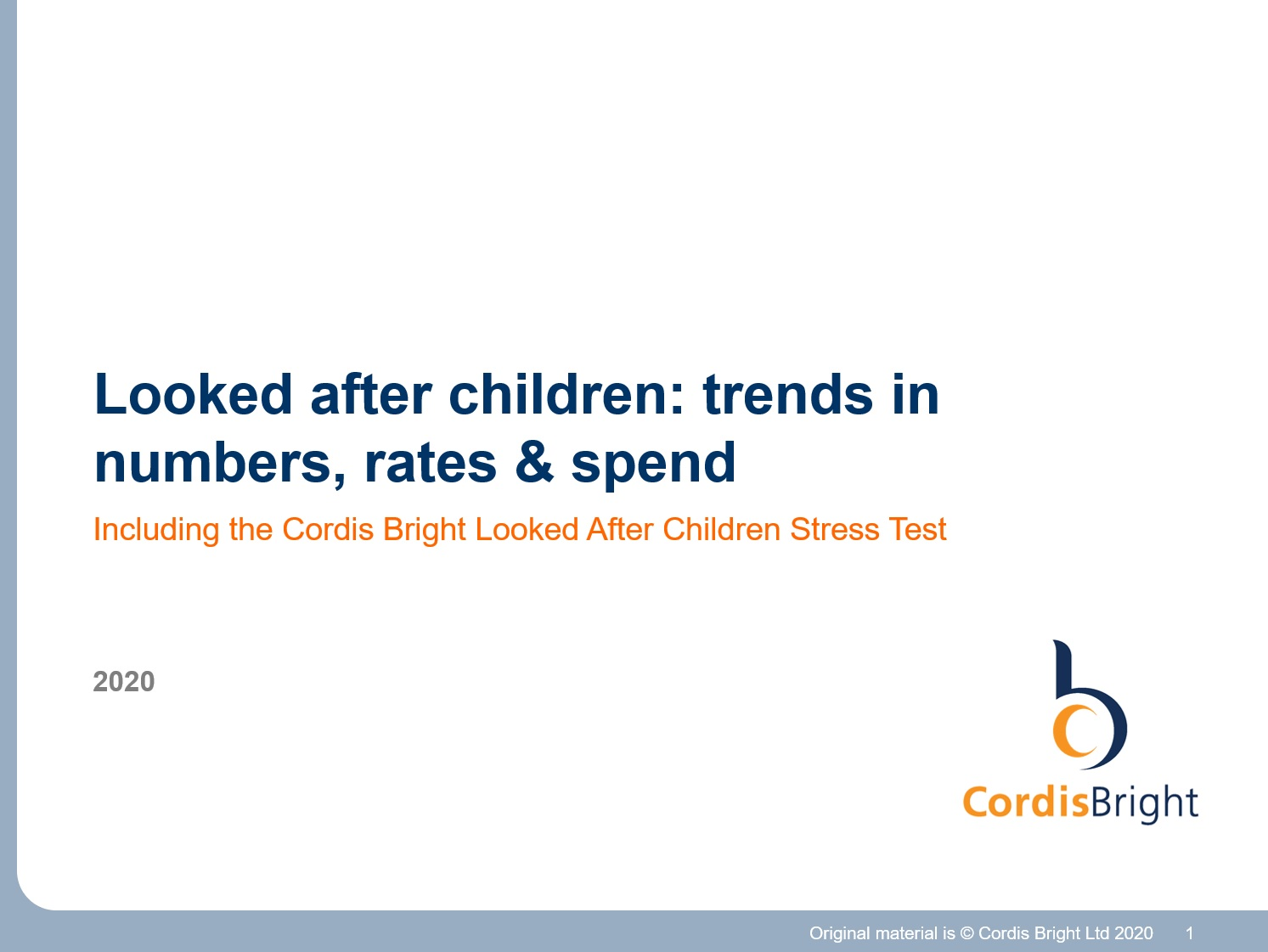 Looked after children stress test 2020