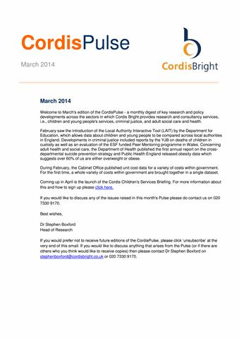 Cordis Pulse: March 2014