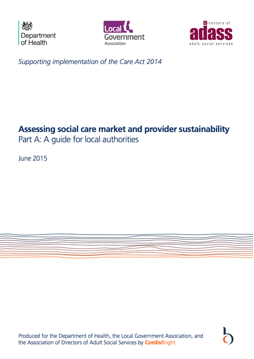 Social care market sustainability