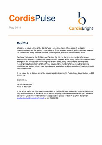Cordis Pulse: May 2014
