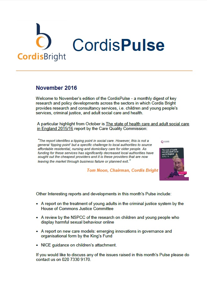 Cordis Pulse: November 2016