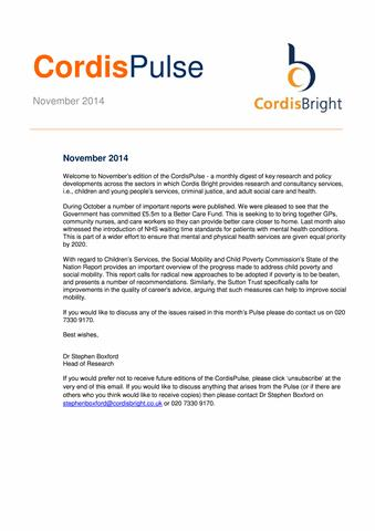 Cordis Pulse: November 2014
