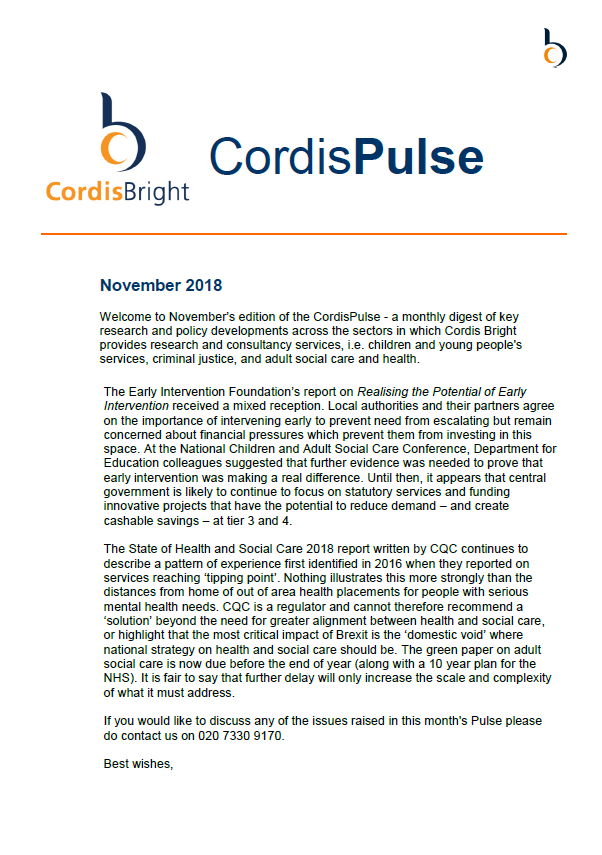 Cordis Pulse: November 2018