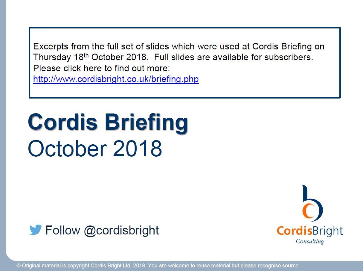 Cordis Briefing October 2018