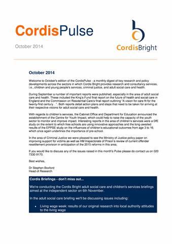 Cordis Pulse: October 2014