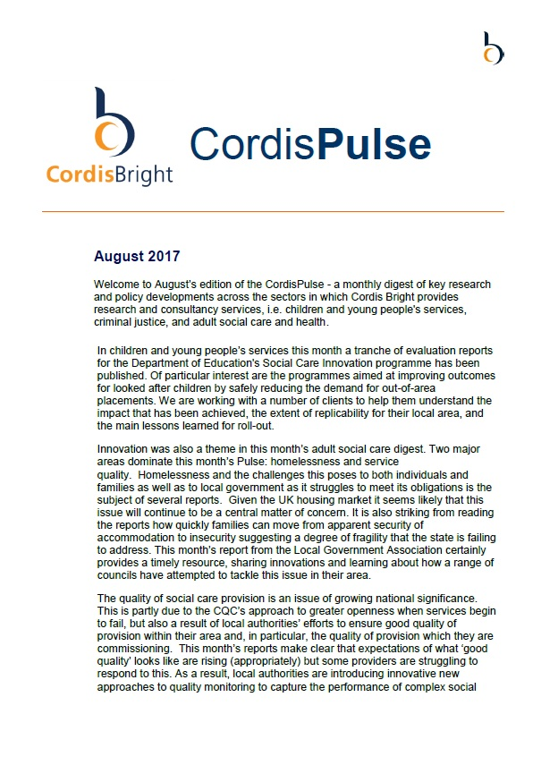Cordis Pulse: August 2017