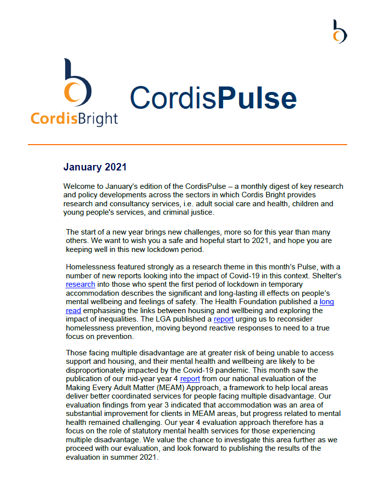 Cordis Pulse: January 2021