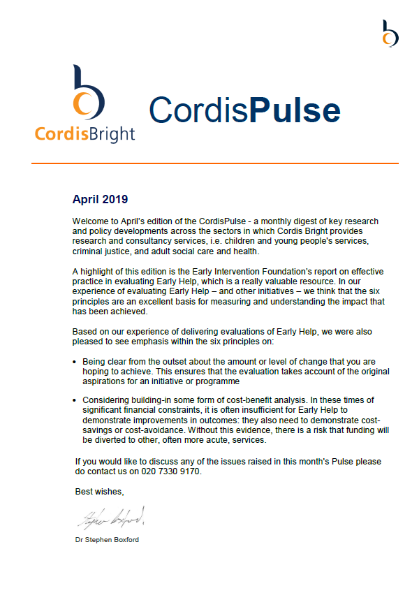 Cordis Pulse: April 2019