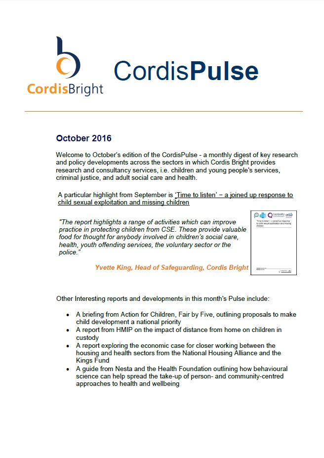 Cordis Pulse: October 2016