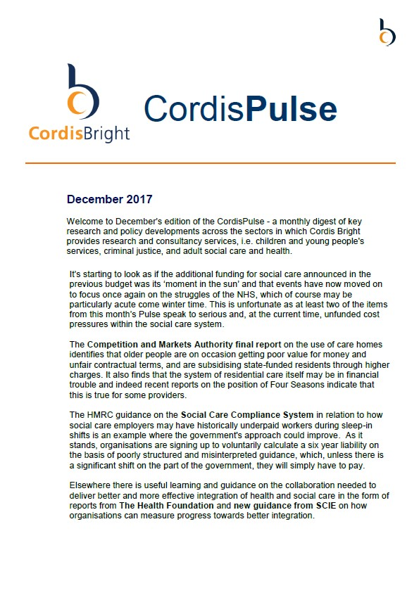 Cordis Pulse: December 2017