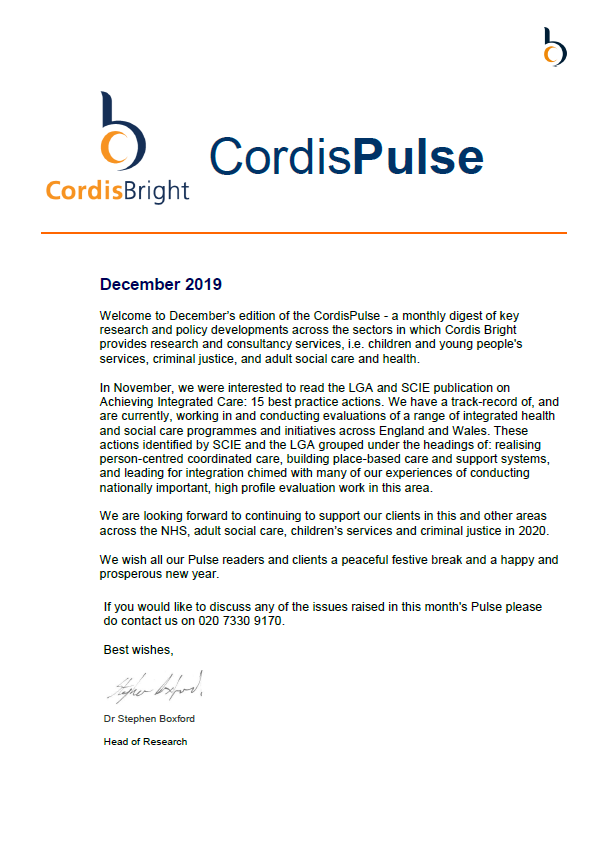 Cordis Pulse: December 2019