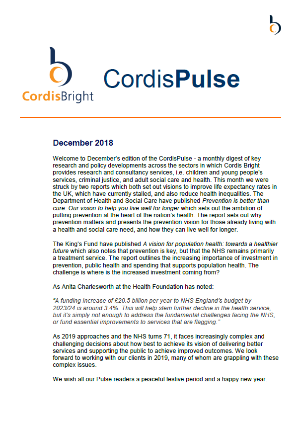 Cordis Pulse: December 2018
