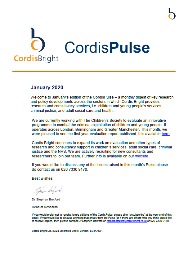 Cordis Pulse: January 2020
