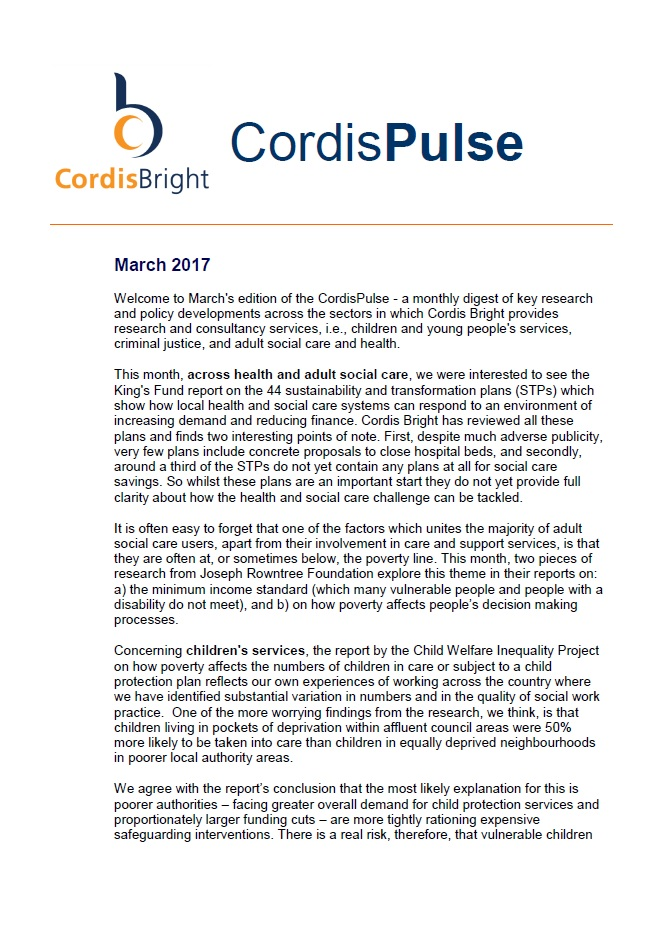 Cordis Pulse: March 2017