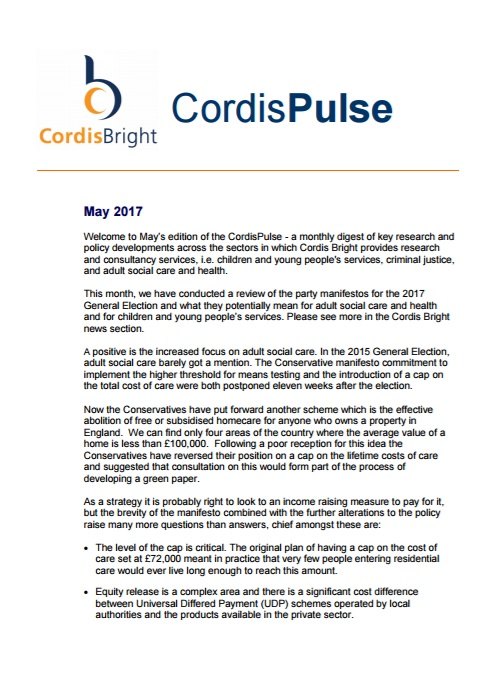 Cordis Pulse: May 2017