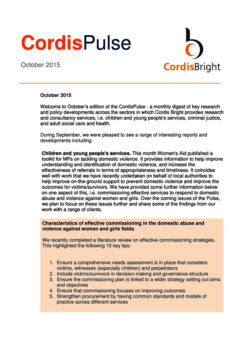 Cordis Pulse: October 2015