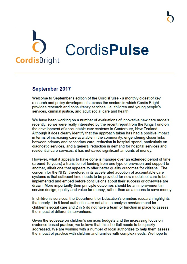 Cordis Pulse: September 2017